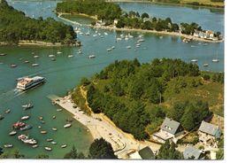 Port-Anna Ile Conleau Belle Vue Aérienne Bateau Bac - France