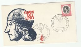 1974 ITALY FDC GIAMBELLINO Art  Stamps Cover - Art