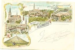 003/30  ALSEMBERG  - Carte-Vue Groet Uit Alsemberg - Vues Multiples - Circulée Poste 1901 - Beersel
