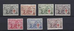 BELGIQUE - BELGIE 394/400 Met Plakker - Avec Charniere - 1934 - Belgique