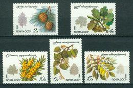 BM Sowjetunion 1980   MiNr 5002-5006   MNH   Geschützte Baum- Und Straucharten - 1923-1991 URSS