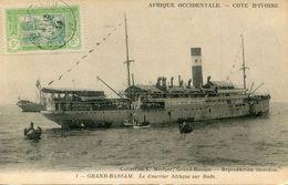 COTE D IVOIRE(GRAND BASSAM) BATEAU A VAPEUR - Ivory Coast