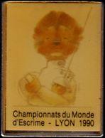 LYON Championnats Du Monde D'Escrime 1990 - Scherma