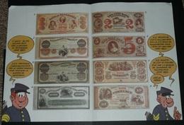 Planche/Copie De Billets Américains Etats Unis USA, 1850 1860 Guerre De Sécession, Présenté Par Les Tuniques Bleues Fake - United States Of America