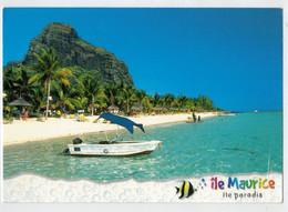 ILE  MAURITIUS  ILE  PARADIS       PLAGE  DU  MORNE   2  SCAN        (VIAGGIATA) - Mauritius