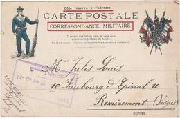 Belle Carte Militaire FM / Marin Fusilier / Cachet 3ème Dépôt Bureau Du Capitaine / Toulon 83 Var / Navire Schumaoch - Documents