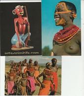 Lot 3 CPM Femmes Seins Nus  Non Circulées - Afrique Du Sud, Est, Ouest