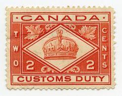 CINDERELLA : CANADA - CUSTOMS DUTY - 2 CENTS - Cinderellas