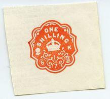 CINDERELLA : UK REVENUE - ONE SHILLING SEAL - Cinderellas