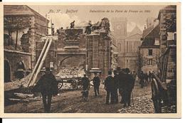 AML52 - CPA - 90 - BELFORT - Démolition De La Porte De France - Belfort - Ciudad