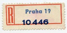 CINDERELLA : PRAGUE / PRAHA 19 - REGISTERED LABEL - Cinderellas