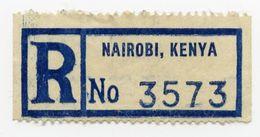CINDERELLA : KENYA, NAIROBI - REGISTERED LABEL - Cinderellas