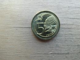 Singapour  5  Cents  2014  Km !!! - Singapour