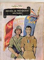 RECUEIL DE PREPARATION MILITAIRE  Capitaine Millet  SENS Yonne  ANNEE 1961 - Catalogs