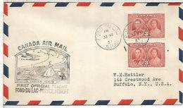 CANADA FIRST FLIGHT 1937 FOND DU LAC PRINCE ALBERT TIENDA INDIA INDIAN TENTS NATIVO AMERICANO - American Indians