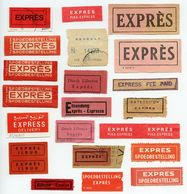 CINDERELLA : 21 EXPRES / EXPRESS LABELS - VARIOUS COUNTRIES - Cinderellas