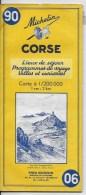 MICHELIN 1/200000  Corse - Cartes Routières