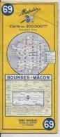 MICHELIN 1/200000  Bourges Macon - Roadmaps