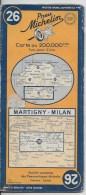 MICHELIN 1/200000  Martigny Milan - Cartes Routières