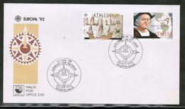 CEPT 1992 MT MI 885-86 MALTA FDC - 1992