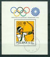 BM Polen 1972 | MiNr Block 51 (2157) | Used | Olympische Sommerspiele, München - Blocks & Sheetlets & Panes