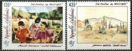Nouvelle-Calédonie 1991 Yvertn° LP PA 278-279 *** MNH Cote 16,40 Euro  Peintres Du Pacifique - Poste Aérienne
