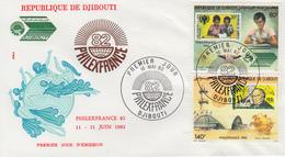 Enveloppe  FDC  1er  Jour   DJIBOUTI    Exposition   PHILEXFRANCE   1982 - Djibouti (1977-...)