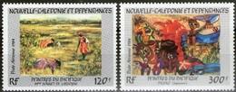 Nouvelle-Calédonie 1984 Yvertn° LP PA 245-246 *** MNH Cote 14,80 Euro  Peintres Du Pacifique - Poste Aérienne