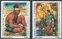 Nouvelle-Calédonie 1983 Yvertn° LP PA 234-235 *** MNH Cote 16,60 Euro  Peintres Du Pacifique - Poste Aérienne