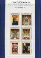 ##(YEL1)- Santuario Di Montenero-Livorno- Insieme Di 28  Erinnofili Contenuti In Elegante Folder Per Anno Santo 2000 - Vignetten (Erinnophilie)
