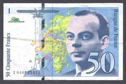 50 Francs St Exupéry 1997 - 1992-2000 Last Series