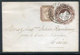 Egypte - Entier Postal + Complément De Alexandrie Pour Le Caire En 1898 - Ref J 64 - Egypt