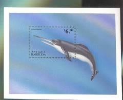 ANTIGUA & BARBUDA  2254 MINT NEVER HINGED SOUVENIR SHEET OF DINOSAURS - Briefmarken