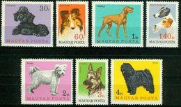 BM Ungarn 1967   MiNr 2337-2343 A   MNH   Hunde - Nuovi