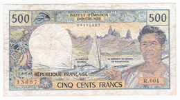 Polynésie Française - 500 FCFP - R. 004 / Philippe Jurgensen / Denis Ferman - Papeete (French Polynesia 1914-1985)
