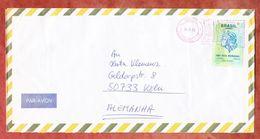 Luftpost, EF Freiheitskopf, Durch Postfreistempel Entwertet, Fortaleza Nach Koeln 1994 (45721) - Cartas