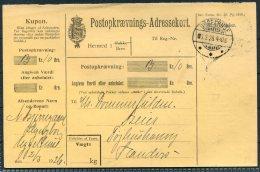 1926 Denmark Adresskort Uggelhuse Jutland Parcelcard - Covers & Documents
