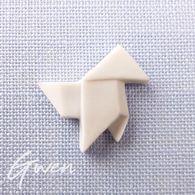 Feve Thibault Bergeron Cocotte En Papier Blanc Mat Miniature Porcelaine - Charms