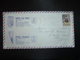 LETTRE TP 38 P OBL.MEC.17 ABR 84 EL ARENAL BALEARES + HOTEL SAN DIEGO + HOTEL SOLIMAR - 1931-Oggi: 2. Rep. - ... Juan Carlos I