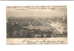 TORINO TURIN PANORAMA PRESO DALLA VILLA REGINA 1903 - Italia