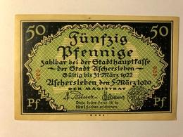 Allemagne Notgeld Aschersleben 50 Pfennig - [ 3] 1918-1933 : République De Weimar