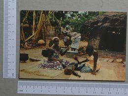 GUINÉ    - FULA BATENDO PANO  -  BISSAU - 2 SCANS  - (Nº19969) - Guinea-Bissau