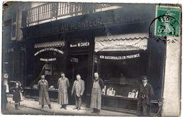 BLOIS  CARTE PHOTO  Etablissement Au Planteur De Caïffa  M CAHEN  21 Rue Saint Martin  2 Scans - Blois
