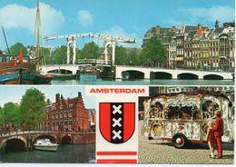 Ponts Ouvrages D'Art Pont Transbordeur Amsterdam Hollande Bateaux - Ponts
