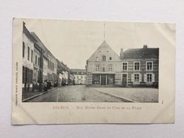 BILSEN «Rue Notre Dame Et Coin De La Place «animée,panorama (1900)Édit Marie Theelen,Bilsen. - Bilzen