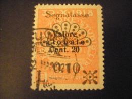 FIUME - 1921, Segnatasse, Sass. N. 29, 0,10 Su 20 C., II Tipo, TB, OCCASIONE - Fiume