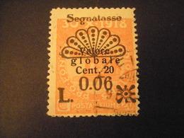 FIUME - 1921, Segnatasse, Sass. N. 28, 0,06 Su 20 C., II Tipo, TB, OCCASIONE - Fiume