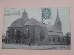 CARIGNEN - Coté Nord De L'EGLISE ( Charpentier-Richard ) Anno 1904 ( Voir Photo Svp ) !! - Sedan