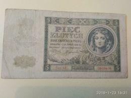 5 Zlotych  1941 - Pologne