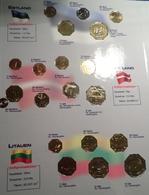 EUROPE EURO BEITRITTSLÄNDER 70 COINS 10 COUNTRIES ALL UNC IN BINDER - Coins & Banknotes
